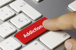Addiction. Keyboard